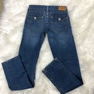 True Religion Girls Straight Leg Jeans
